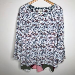 Anthropologie One September Caia Blouse